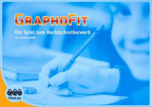 GraphoFit Spiel bestehend aus:  Anleitung, Spielplan (auch als Kopiervorlage), 3er-Würfel, 4 Spielfiguren, 16 Kartensätze mit ca. 500 Karten (überwiegend Bildkarten), Kopiervorlagen mit Gitterrätseln und Lösungsheft