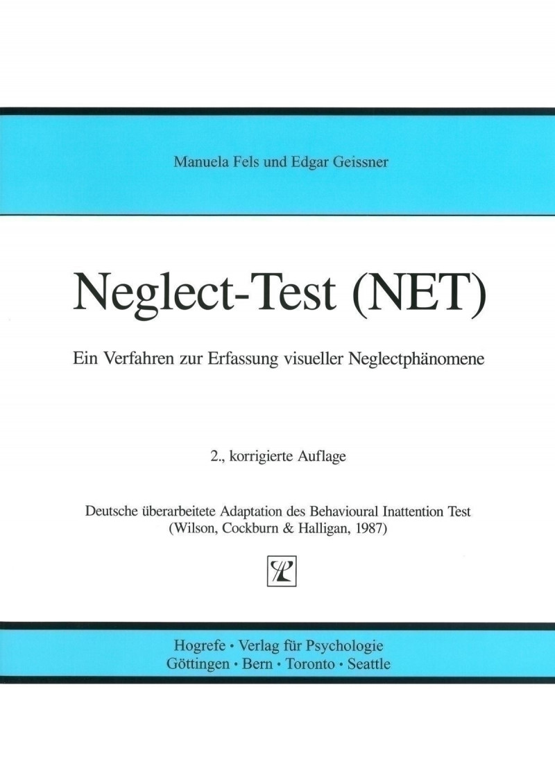 Test komplett bestehend aus: Handanweisung, 5 Testheften, 5 Auswertungsbogen, Schablonensatz, Testmaterial und Koffer