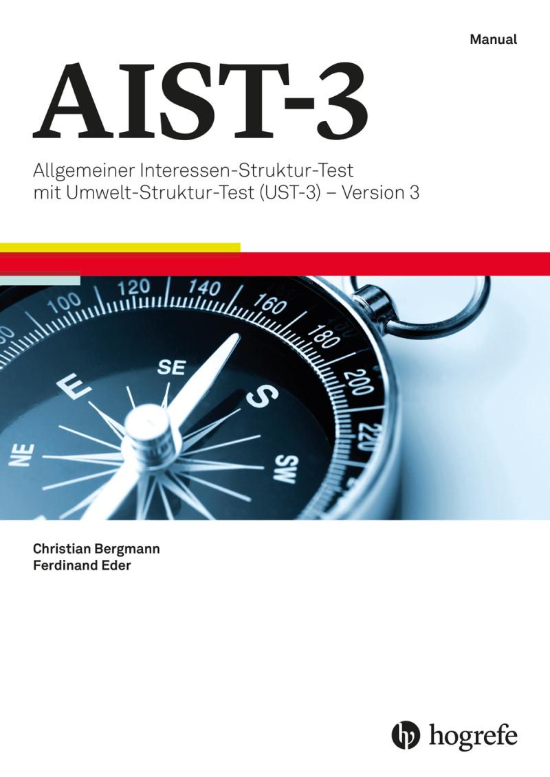 Test komplett bestehend aus: Manual, 10 Fragebogen AIST-3, 10 Fragebogen UST-3, 10 Auswertungsblätter, Auswertungsschablone und Mappe