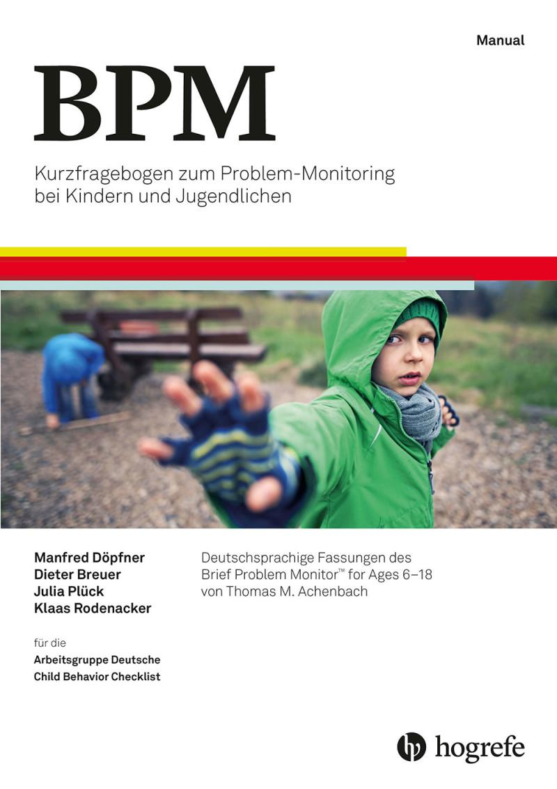 Test komplett bestehend aus: Manual, 10 Kurzfragebogen für Eltern zu Problemen von Kindern und Jugendlichen (BPM-P/6–18), 10 Kurzfragebogen für Lehrer zu Problemen von Kindern und Jugendlichen (BPM-T/6–18), 10 Kurzfragebogen für Jugendliche zu Problemen (