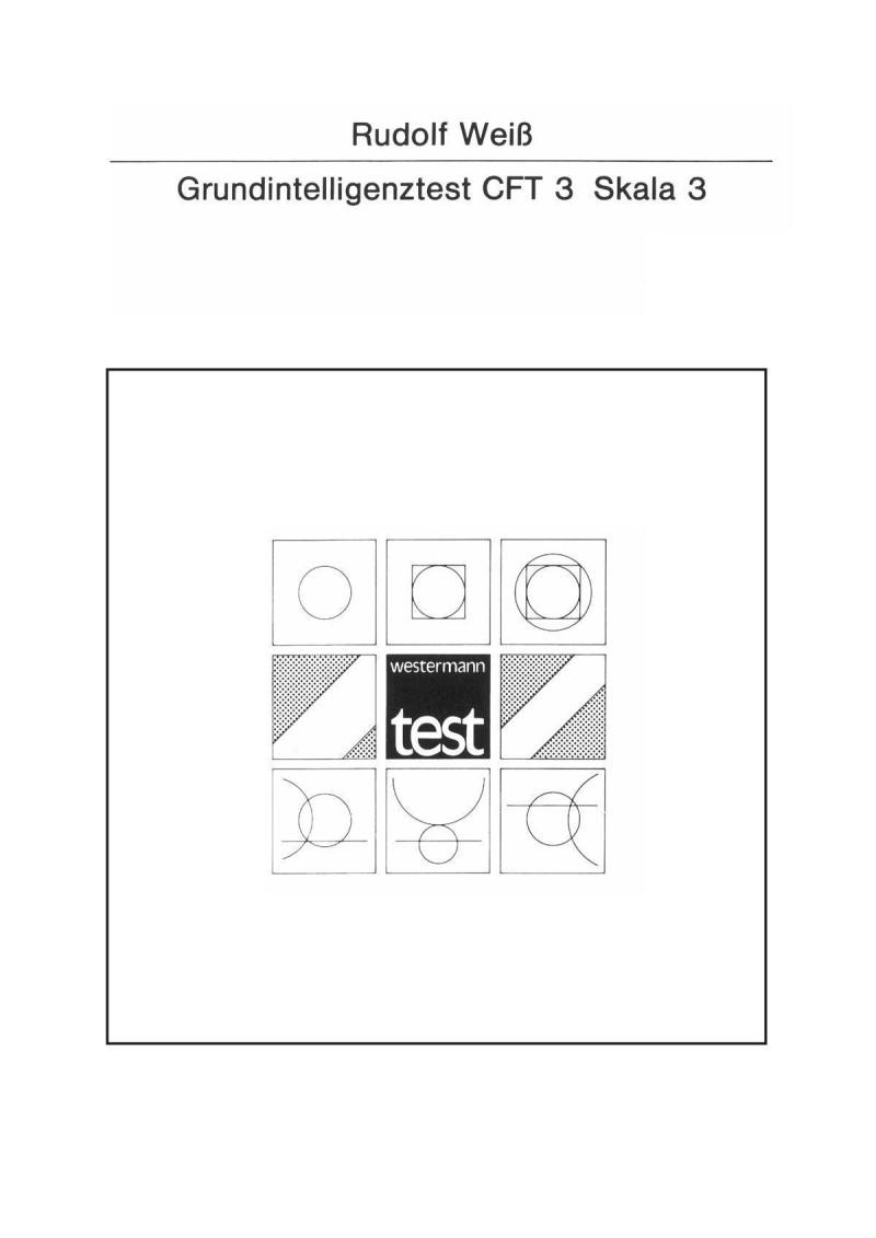 Test komplett bestehend aus: Handanweisung, je 1 Testheft A + B, 4 Antwortbogen, je 1 Schablone A + B und Mappe
