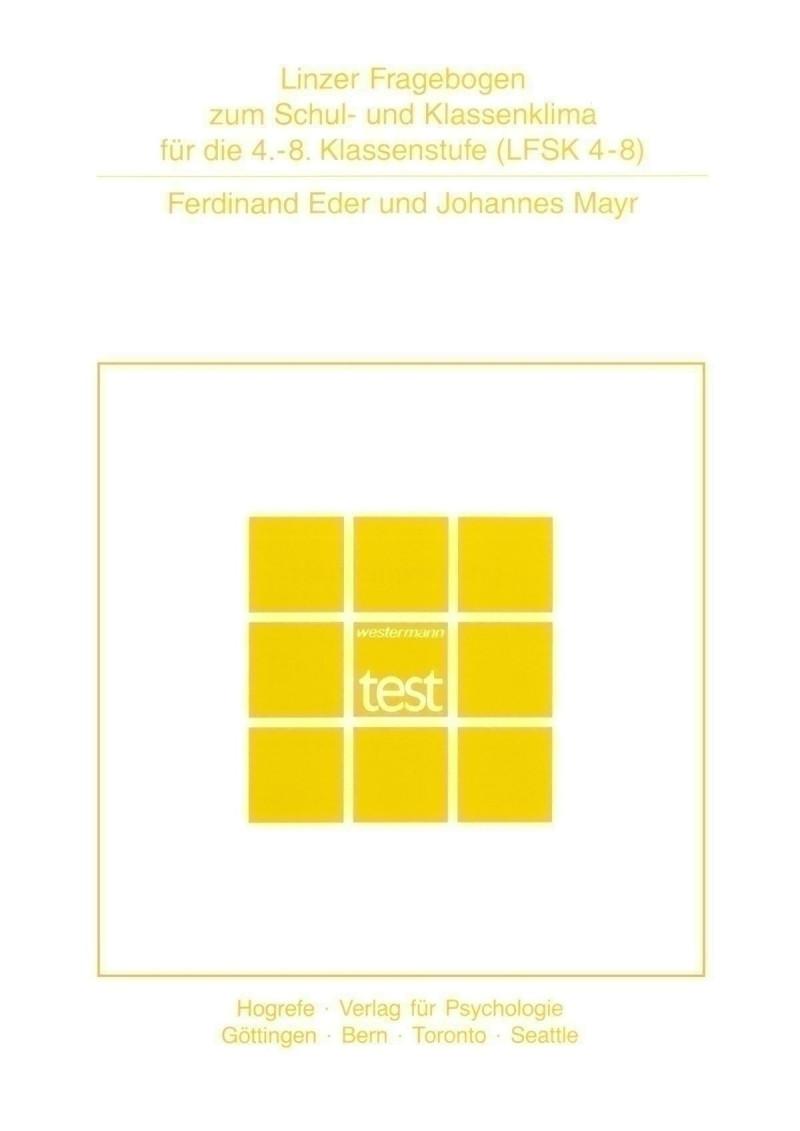 Test komplett bestehend aus: Manual, 10 Fragebogen, 10 Auswertungsbogen, Auswertungsschablone und Mappe