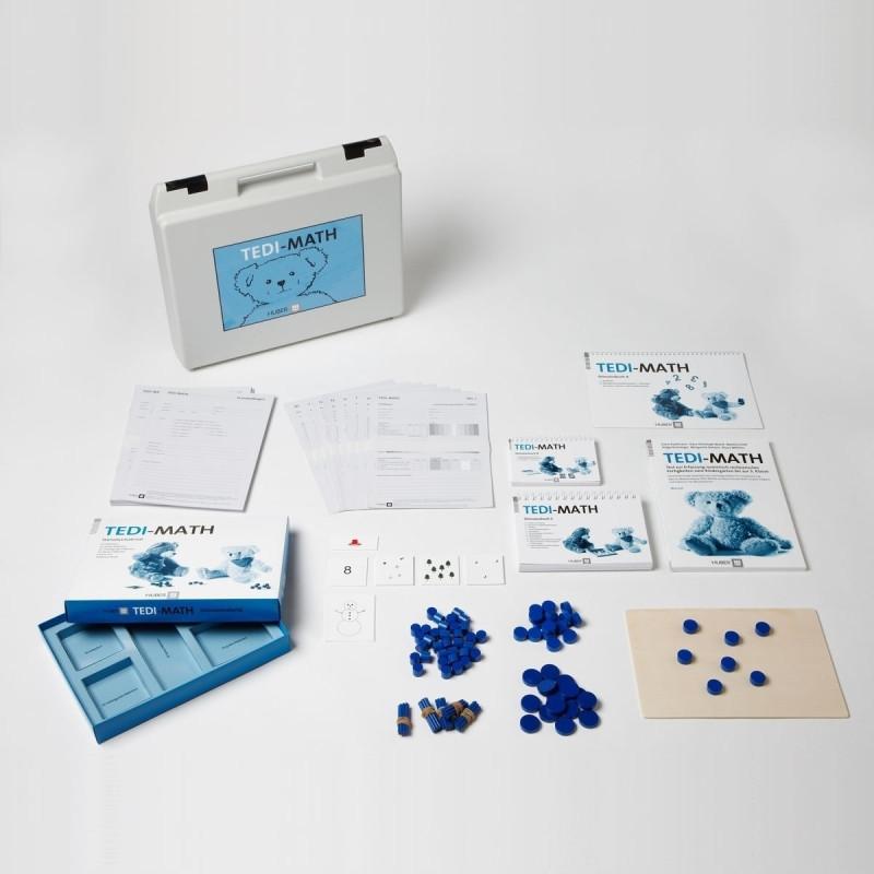 Test komplett bestehend aus: Manual, Stimulusbuch A,B und C, 10 Protokollbogen, je 5 Profilbogen vlKg_2, IKG_1, IKG_2, 1_1, 1_2, 2_1, 2_2 und 3_1, Briefumschlag mit Kartonpapier und Karton-Sichtblende, Stimulusmaterial und Kofferus 50 Stäbchen (und 5 Gumm