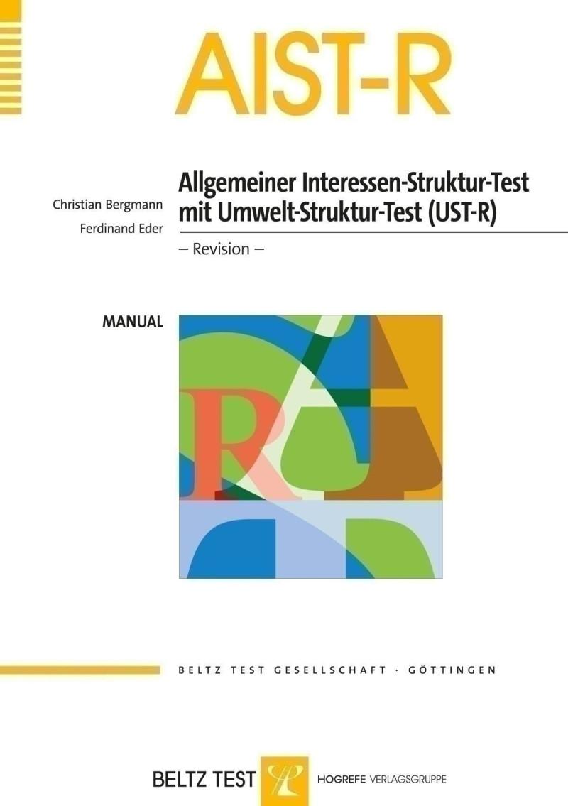 Test komplett bestehend aus: Manual, 10 Fragebogen AIST-R/UST-R, 1 Auswertungsschablone und Mappe