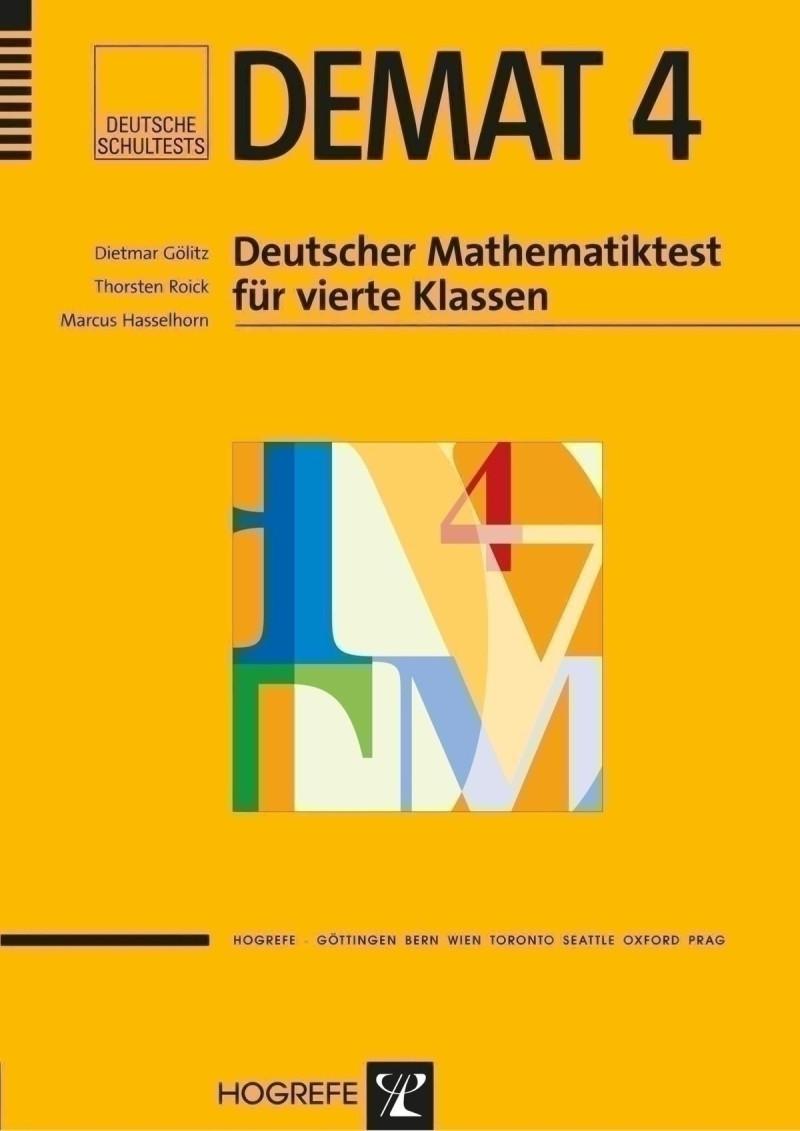 Test komplett bestehend aus: Manual, je 5 Testheften Form A+B, Schablonensatz Form A+B, 10 Klassenbogen und Mappe