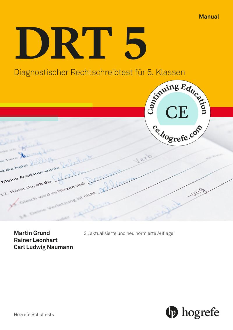 Test komplett bestehend aus: Manual, 5 Testhefte Form A, 5 Testhefte Form B, 5 Fehleranalysebogen Form A, 5 Fehleranalysebogen Form B und Mappe