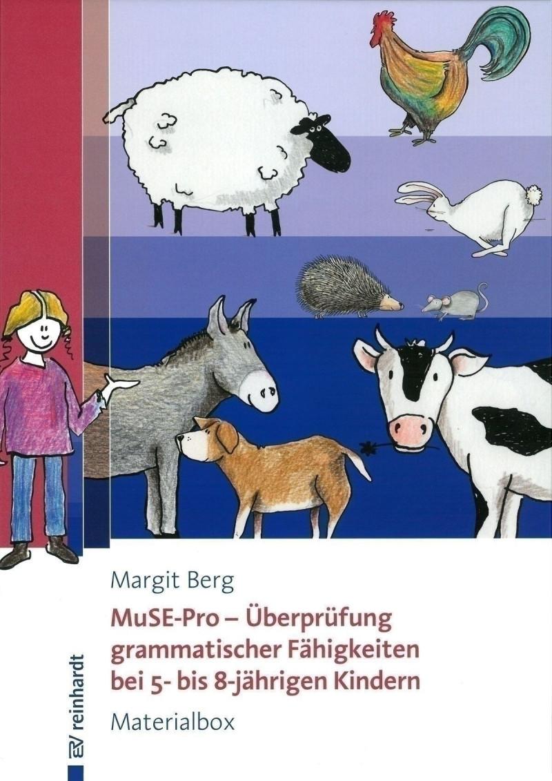Materialbox bestehend aus: Manual, 6 Bildkarten und 8 Schachteln mit Tiermotiven