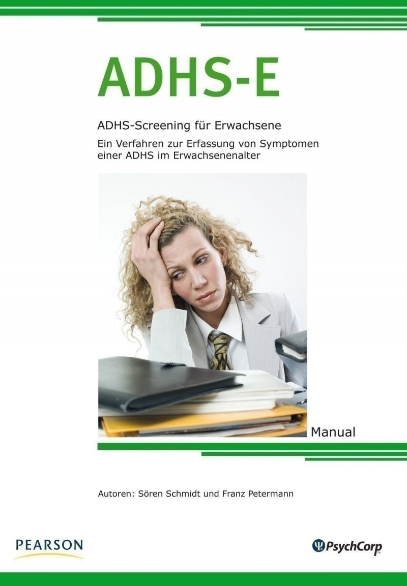 Gesamtsatz bestehend aus: Manual, 25 Fragebogen ADHS-E Kernscreening, 25 Fragebogen ADHS-LE Langform, Auswertungsschablonen ADHS-LE, Substanzmittelscreening (Block á 25 Blatt) und Box