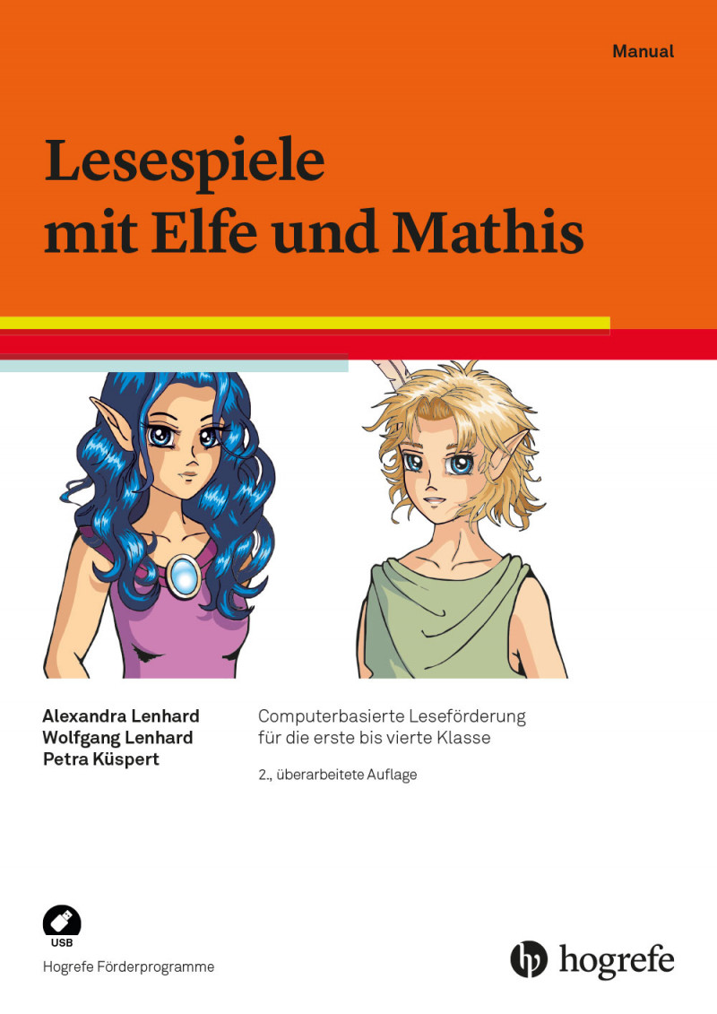 Lesespiele mit Elfe und Mathis, 2. Auflage - Schullizenz,  bestehend aus: Manual und 5 USB-Sticks